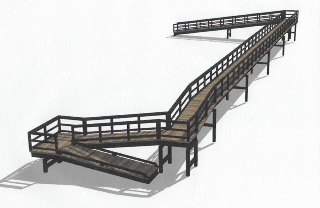 Rendering of engineered dune walkover